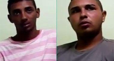 Em vídeo, dupla confessa latrocínio de sobrinho de comerciante e dá detalhes
