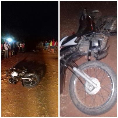 Colisão frontal entre motos deixa dois mortos e um ferido no interior de Curral Novo do PI