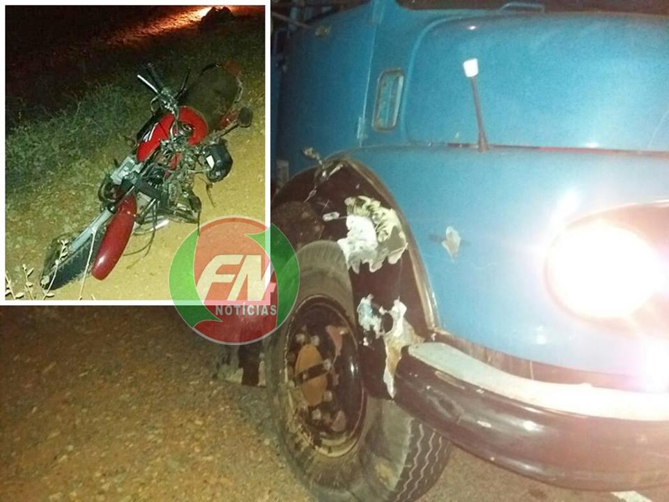 Acidente envolvendo moto e caminhão pipa, deixa um morto na PI 143 em Jacobina do Piauí