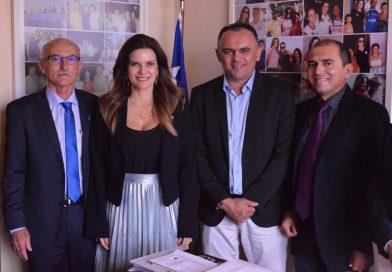 Em Brasilia, Iracema Portella recebe prefeito, vice e vereador de Queimada Nova