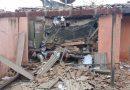 Estacionamento da prefeitura de Inhuma desaba após explosão de banco em assalto