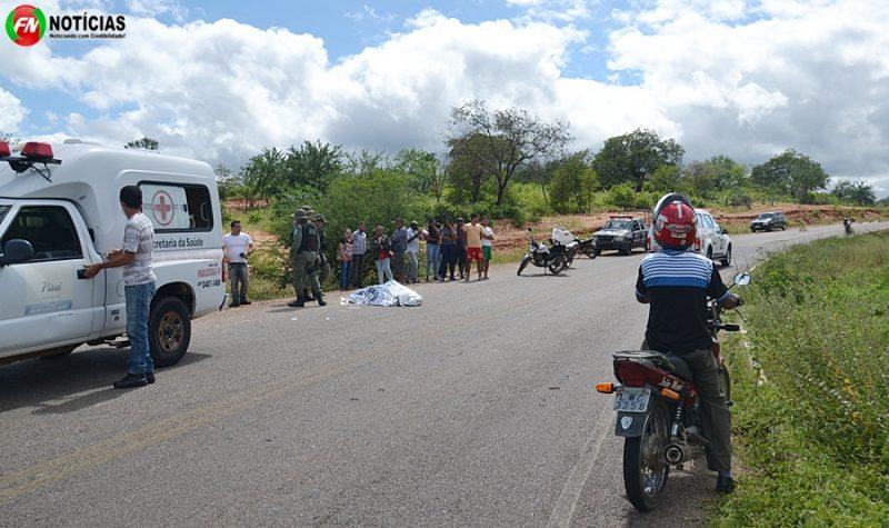 Leiturista da Eletrobras morre após colisão entre motos e casal fica ferido na PI 459 em Paulistana