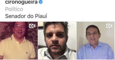 Prefeitos do Piauí saem em defesa de Ciro Nogueira e divulgam vídeos de apoio nas redes socais