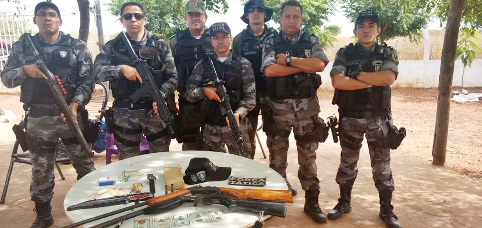 Operação prende cinco com armas e drogas em Campinas do Piauí