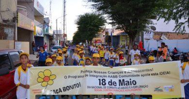 Caminhada marca mobilização em prol do 18 de maio em Paulistana. Fotos!