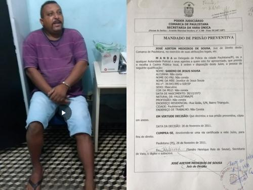 Polícia Militar prende fugitivo da Justiça em Betânia do Piauí