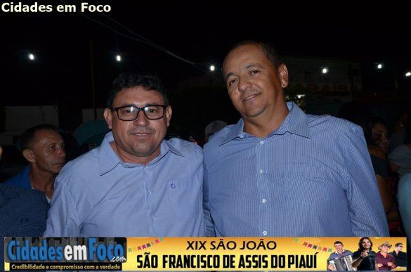 Prefeito Jó e Vice-prefeito Charles