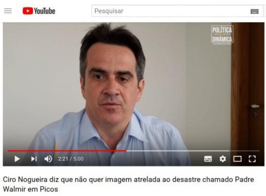 Ciro Nogueira declara que não quer sua imagem ligada ao prefeito de Picos