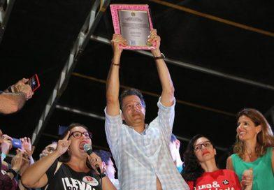 """""""Brasil precisa de um professor e não de um miliciano"""", diz Haddad em Picos"""