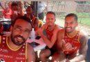 Em Picos, Rômulo e Renê jogam torneio de futevôlei
