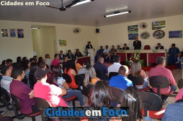 A solenidade de posse contou com a presença de todos os vereadores de Lagoa do Barro do Piauí